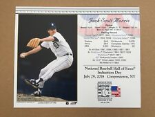 JACK MORRIS DETROIT TIGERS 8X10 HALL OF FAME INDUCTION DAY CARD POSTMARKED