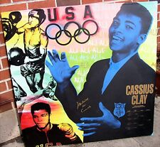 Kaufman Ali - Cassius Clay - Oil Canvas Print - Rare Historical ALI - SIGNED
