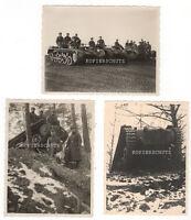 3 Original Fotos Panzer Fahrschule 2.WK