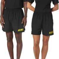 APFU PT Shorts US Army Physical Training Work Out Running Exercise Gym Black S
