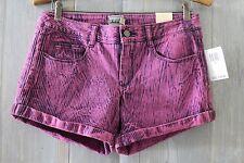 NWT DICKIES Pop Art Fuchsia Pink Purple ACID WASH STriped Denim SHORTS 9