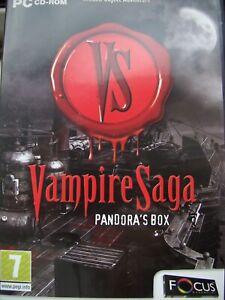 VAMPIRE SAGA--PANDORA'S BOX---HIDDEN OBJECT--PC CD