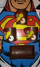 VINTAGE WOODY WOODPECKER CEREAL BOWL & CUP MUGS LOG SET PRIZE MAIL AWAY KELLOGG