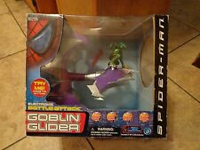2001 TOY BIZ--SPIDERMAN MOVIE--ELECTRONIC BATTLE ATTACK GOBLIN GLIDER (NEW)