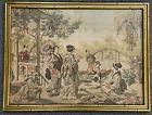 """Vintage 27"""" Framed Asian Japanese Chinese Geisha Queen Royal Handmaids Tapestry"""