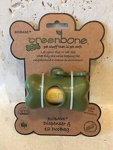 Poop Bags Earth Friendly Dog Waste And Green Bone Dispenser 12 Poop Bags