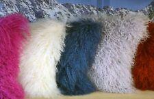 Tibet Lammfell-Kissen Mongolisches Lammfell Sheepskin Kissen Fellkissen