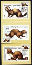 DDR 2677/80 Maximumkarten Steppenmurmeltier , Iltis , Nerz , Steinmarder