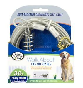 Four Paws Heavy Weight Tie Out Cable Silver   Free Shipping
