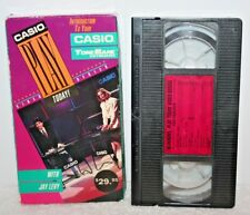 Casio Play Today! Casio Tone Bank Keyboard Vhs Tape Learning Interactive Video