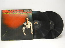 Vintage Belafonte Returns To Carnegie Hall Vinyl 2 Record Set RCA Records
