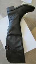 NEW STEVE MADDEN OTC BLACK LEATHER  HIGH BOOTS WOMENS 6.5 TALL BOOTS