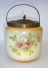 Art nouveau blush ivoire vintage biscuit baril vintage seau à glace peek frean