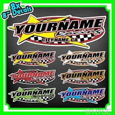 Custom Your Name Racing Decals Trailer Truck MX ATV Race Car Kart Boat Ski IMCA