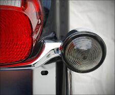AutoGem Bullseye Clear Glass Turn Signal Lenses | Harley Davidson Deuce Lights