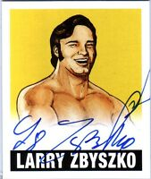 Larry Zbyszko LZ YELLOW 2012 Leaf Originals Wrestling On Card Autograph SN 90/99