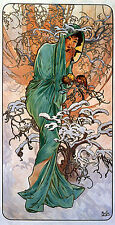 Winter 22x30 Art Deco / Nouveau Print by Alphonse Mucha Hand Numbered Edition