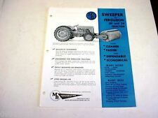 MB Sweeper Sales Sheet for Ferguson 30 & 35 Tractors