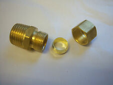 Brass fitting Male adaptor 1/2X1/2 all-tube
