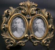 Bilderrahmen Fotorahmen 2 Fotos Bilder Rahmen Oval Gold Holz Antik Rokoko Barock