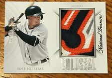 2015 National Treasures Jose Iglesias Colossal 4-Color Jersey Patch Relic #08/11