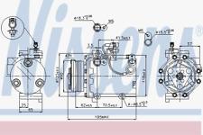 Kompressor Klimaanlage - Nissens 89349