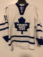 Vintage Toronto Maple Leafs Curtis Cujo CCM NHL Hockey Jersey White - Youth S/M