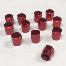 Valve stems caps Red set of 12 pc