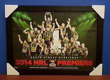 South Sydney Rabbitohs Unsigned 2014 NRL Premiers Poster Black Frame Greg Inglis