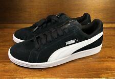 Puma Men's Size 8 Suede Smash Black/White Casual Retro Sneakers Tennis Shoes NEW