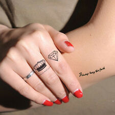 Diamond Removable Temporary Tattoo Paper Small Fake Tattoo Men Women Body Art