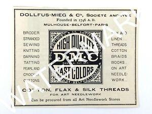 1929 Dollfus-Mieg & Co High Quality Threads Needlecraft Magazine Print Ad 107A
