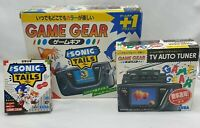 CONSOLA SEGA GAME GEAR SONIC & TAILS + SINTONIZADOR TV TUNER. NEW CAPACITORS