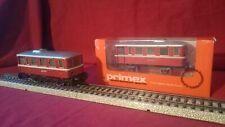 2 pieces Marklin Primex Railbus with Sidecar Schienenbus Beiwagen 3018  4022 AC