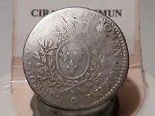 CIRA(14) (44) - LOUIS XV - 1/5 ECU ARGENT - 1741 (A PRIORI) - RENNES - RARE !!