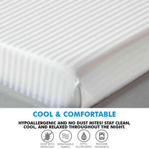 White Extra Deep Fitted Sheet 400TC 100% Egyptian Cotton Single Double King Size