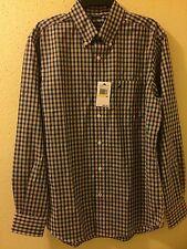 NAUTICA Men's Casual Shirt Plaid Orange/Green/Blue Color Size Medium NWT