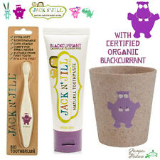 Jack n Jill Toothbrush + Toothpaste + Rinse Cup - Hippo