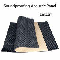 100CM*100CM Fire Flame-Retardant Sound-proof Wall Foam Black Wave Acoustic  *