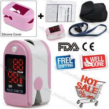 USA Fingertip Pulse oximeter Spo2 Monitor Blood Oxygen LED case CMS50DL pink