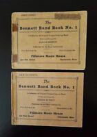 "(2) ORIGINAL 1923 ""The Bennett Band Book No. 1""  By Harold Bennett ~ For Cornets"