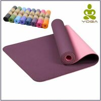 Yoga Mat Pilates Exercise Thick Non Slip Fitness Pad Gym Extra Workout Stretch