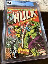 Incredible Hulk 181 CGC 8.5 Bronze Age Grail key comic book 1st WOLVERINE 1974