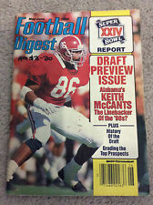 NFL FOOTBALL DIGEST Magazine Keith McCants May/June 1990 Gridiron Draft Preview
