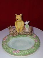 Disney Winnie The Pooh Piglet Ceramic Soap Dish Hand Painted Used