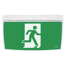 Emergency Exit Light Sign Running Man Wall Ceiling Mount Double Sided LED Slim