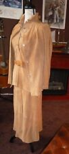 Vintage R. Sherman Kid Suede 3 Piece Camel Color Shirt, Jacket, Skirt & Belt