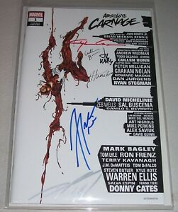 Absolute Carnage #1! (2019) Scorpion Variant! Signed by SIX creators! NM! COA!