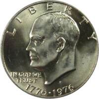 1976 S Variety 1 $1 Eisenhower IKE Silver Clad Dollar Coin BU Uncirculated