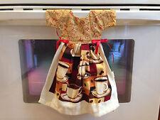 """Handmade Hanging Oven Door Kitchen Tea Hand Towels Dress Coffee Hostess Gift 16"""""""